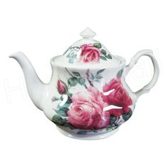 English Teapots And Cups | English Rose Teapot, 6 Cup