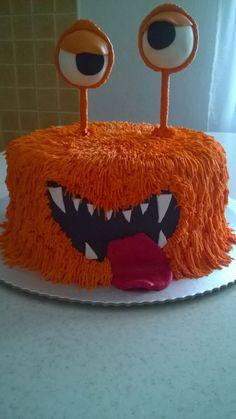 Monster cake Monster Cakes, Monster Party, Monsters, Kids, Food, Young Children, Boys, Essen, Children