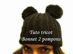 de44e420b6bf Les tutos de Fadinou  TUTO TRICOT BONNET 2 POMPONS ET COTES ANGLAISE FAC.