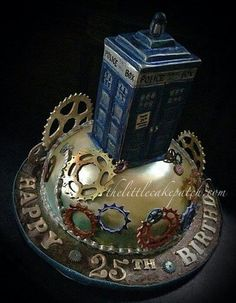 Doctor Who Tardis cake ;) scratch the birthday wishes and its an awesome cake!