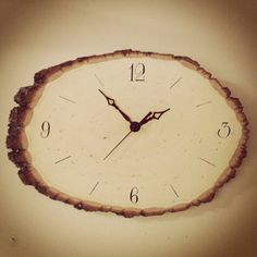 Wood Wall Clock with Live Edges