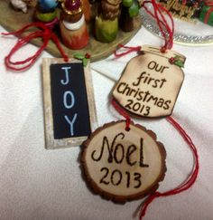 Wood Slice PERSONALIZED Christmas Ornament by AngisSouthernChic