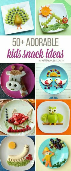 These snack ideas are ADORABLE! Some people are so clever! I never would have thought of all of these amazing food art ideas, but they really are creative! recipe for kids lunch Adorable Kids Snack Ideas Food Art For Kids, Cooking With Kids, Children Food, Cooking 101, Easy Cooking, Birthday Food Ideas For Kids, Cooking Recipes, Art Children, Cooking Steak
