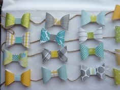 Bow tie garland by CreationsbyTraysa on Etsy, $18.00