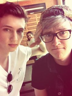 Troye Sivan and Tyler Oakley. Am I the only one who actually noticed the photobomb in the background... ❤️ xx