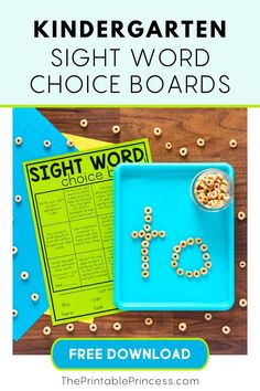 It's no secret that along with learning letter names and sounds, learning sight words is next on the list of important literacy skills students must master in the primary grades.  These sight word choice boards FREE, EDITABLE and FUN!