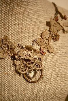 Necklace from old lace, i could and should do this