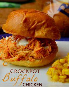 Crockpot Buffalo Chicken #SlowCooker