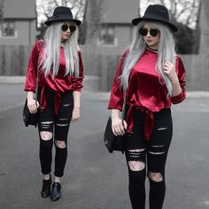 Get this look: http://lb.nu/look/8660547  More looks by Sammi Jackson: http://lb.nu/sammi_jackson  Items in this look:  Zaful  Sunglasses, Tosave Velvet Top, Choies Ripped Jeans, Choies Fishnets, Oasap Quilted Bag, Wholesale 7 Buckled Boots   #gothic #grunge #punk #zaful #zafuleaster #eastersale #red #redvelvet #crushedvelvet