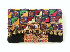 Poppy Clutch - Handcrafted from vintage textiles