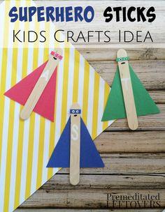 Superhero Sticks Craft for Kids