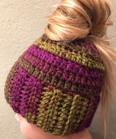 A personal favorite from my Etsy shop https://www.etsy.com/listing/506450753/ponytail-hat-messy-bun-hat-ponytail