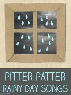 Let's Play Music - Pitter Patter Rainy Day Songs - Huge collection of rainy day songs and activities to get kids moving when it's raining ou...
