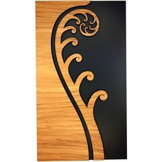 A New Zealand Maori style layered wooden fern frond wall art panel. Maori Designs, Tattoo Designs, Tribal Designs, Elefante Tribal, Maori Patterns, Zealand Tattoo, Polynesian Art, New Zealand Art, Nz Art