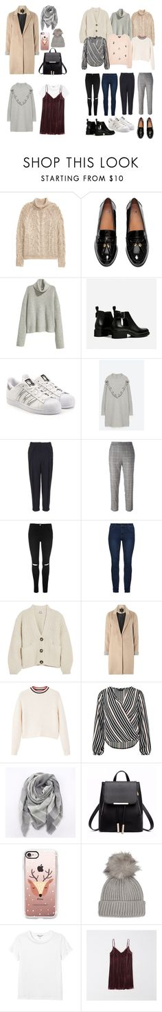 """""""Coming Home for Christmas ⛄️"""" by rosie-peachy ❤ liked on Polyvore featuring H&M, adidas Originals, Volant, Topshop, I'm Isola Marras, Acne Studios, mel, MANGO, Dorothy Perkins and Everest"""