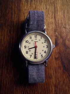 Timex on blue chambray nato