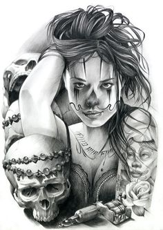 Chicano Art-Tattoo
