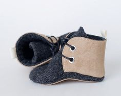 RESERVED FOR MELISSA Leather and Wool by OllieAndTate on Etsy