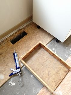DIY Redirecting A Vent Register Under A Kitchen Cabinet.