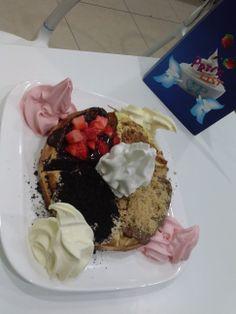 #waffle #frozen yogurt #delicious