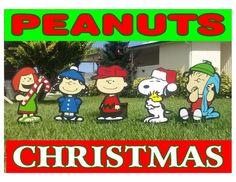 Charlie Brown Peanuts Gang Christmas Holiday Yard Lawn Art Decorations | Collectibles, Holiday & Seasonal, Christmas: Current (1991-Now) | eBay!