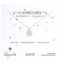 d228937a7ebe Dogeared Sterling Silver Zodiac Capricorn Necklace