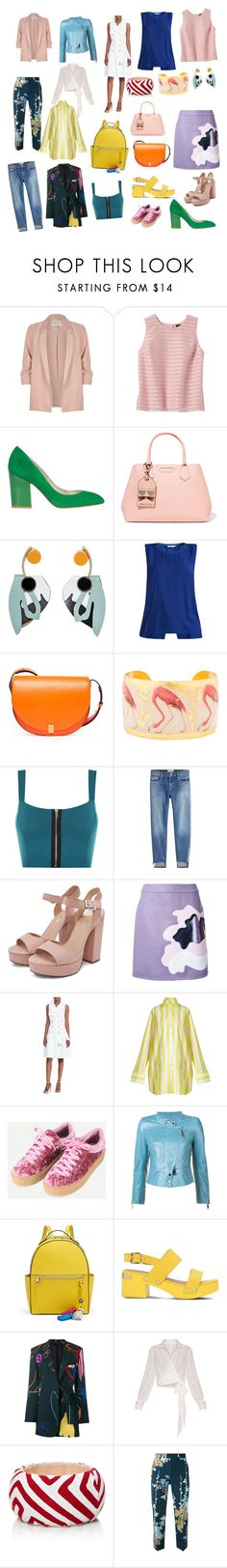 """Работа - отдых"" by elenamarkina on Polyvore featuring River Island, Banana Republic, Karen Millen, Karl Lagerfeld, Marni, J.Lindeberg, Victoria Beckham, Évocateur, WearAll and Frame"