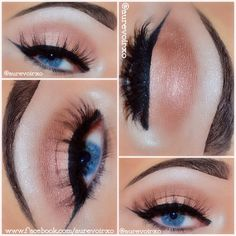 A very easy and natural but beautiful look created with the Urban Decay Naked Palette and Mac    1. Painterly Paint Pot  2. Lid: Sin using a Mac 239 brush  3. Crease: Toasted using a Mac 217 brush  4. Highlight/Tear Duct: Mac - Vanilla I added Barry M Dazzle Dust # 8 Silver Iridescent under the arch of my brow and in tear duct (You can use Mac - Vanilla pigment if you do not have Barry M)   5. Lower Lashline: Applied Mac - Car...