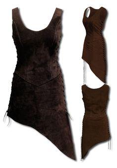 Larp Frauenrüstung - Waldelfe, dunkelbraun