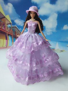Handmade Barbie doll clothes Highgrade dress wedding by Blueberry3, $11.99