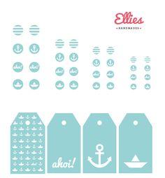 Digitale Downloads - 4 Cabochon Motive ink. 4 Geschenk Anhänger DIGITAL - ein Designerstück von Ellies-Handmades bei DaWanda