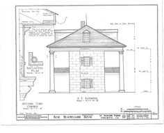 19 x 24 in. (B size) Old Southern Homes, Southern House Plans, Southern Charm, Battle Of New Orleans, Louisiana Plantations, Historical Architecture, Library Of Congress, Old Houses, Floor Plans