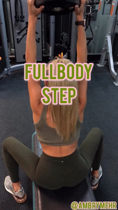 This fat burning step HIIT workout will work your full body. Adding the step mixes cardio with bodyweight training. A workout that will have you working up a sweat. Step Workout, Butt Workout, Gym Workouts, Training Workouts, Training Videos, Hiit, Cardio, Body Fitness, Fitness Goals