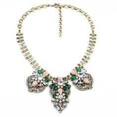 New+Fashion+design+Women+bib+statement+Multi+crystal+rainbow+necklace+collar+
