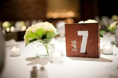 wedding table number - Google Search