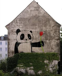 panda street art 000 #SpiritHoods #InnerAnimal www.spirithoods.com