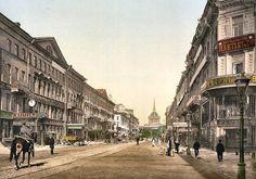 Saint-Pétersbourg : la perspective Nevski au début du XXe siècle.