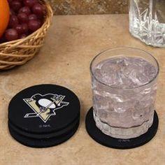 Pittsburgh Penguins 4-Pack Round Neoprene Coaster Set