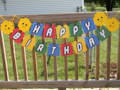 Lego Happy Birthday Banner by KeepsakeToppers on Etsy, $15.00