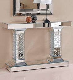 Glass Furniture, Mirrored Furniture, Furniture Decor, Smart Home Design, Home Interior Design, Interior Decorating, Living Room Designs, Living Room Decor, Makeup Room Decor