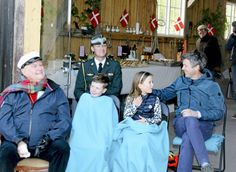 Crown Prince Frederik, Princess Isabella, Prince Christian and Prince Henrik, Lake Esrum, Denmark, May 5, 2014