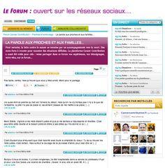 """Le forum, esthétique, ergonomique, permet d'ajouter à chaque sujet un petit texte de présentation (uniquement géré par l'administrateur), immédiatement identifiable sur fond violet. Les contributions sont ramenées sur 2 lignes, pour pemettre une vue d'ensemble  (le bouton """"Lire la suite"""" permet d'accéder à l'ensemble de chaque réponse). Enfin, chaque contribution peut être en un clic renvoyée sur Facebook, Twitter et Google +.  http://www.cancercontribution.fr/forum/64/entrypage/itemid-62"""