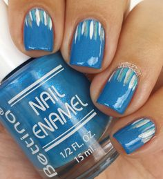 waterfall manicure - Blue Nails