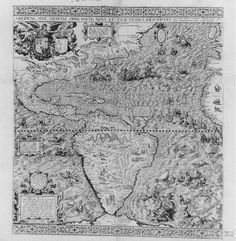 """""""First map of California"""" by Diego Gutiérrez, 1562.  Library of  Congress.  First known map to include the name """"California."""""""
