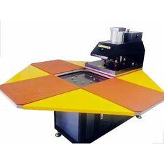 Servicemac comercio equipamentos têxteis.: Máquina De Estampar Carrossel 4 Berços Industrial