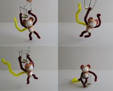 schaeresteipapier: Willkommen im Zoo - mit Sektkorken basteln - kleiner Affe