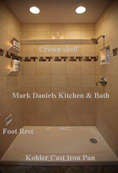 Ceramic Crown Molding/ Shampoo Shelf