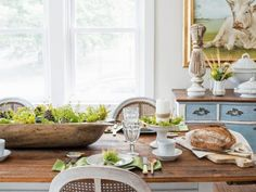 Think of the colors used in the centerpiece as a jumping-off point for the rest of the room's fall decorations. There's no need to do a full makeover — just add a few other elements that reinforce that color scheme and temporarily remove items that detract from it. The overall look created will be worth the extra effort.