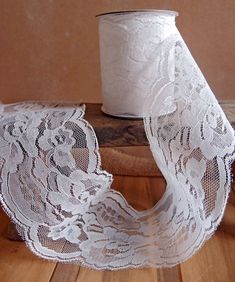 wide x 10 yards Floral Pattern Lace Chantilly trim for bridal, baby, lingerie Ribbon - Choose Col Aisle Runner Wedding, Wholesale Ribbon, Mason Jar Centerpieces, Burlap Fabric, Floral Supplies, Lace Ribbon, Chantilly Lace, Christmas Projects, Vintage Sewing