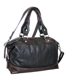 Look at this #zulilyfind! Nino Bossi Handbags Black Torino Satchel by Nino Bossi Handbags #zulilyfinds